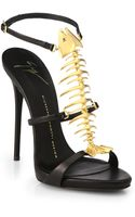 Giuseppe Zanotti Skeletal Fish Leather Sandals - Lyst