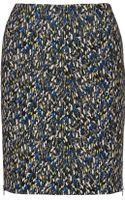 Yigal Azrouel Printed Ponte Skirt - Lyst