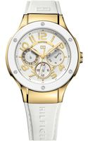 Tommy Hilfiger Womens Sport White Silicone Strap 39mm - Lyst