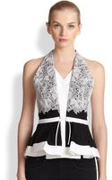 Peter Pilotto Leaf Lace Top - Lyst