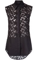 Joseph Sleeveless Lace Panel Shirt - Lyst