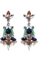 Kenneth Jay Lane Crystal and Stone Drop Earrings - Lyst