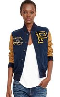 Polo Ralph Lauren Leather Sleeved Varsity Jacket - Lyst