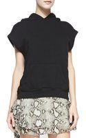 Pam & Gela Sleeveless Hooded Sweatshirt Black Small - Lyst
