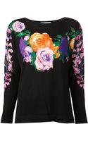 Blumarine Floral Sweater - Lyst