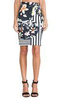 Clover Canyon Floral Discs Neoprene Skirt - Lyst