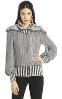 Oscar de la Renta Zipfront Knit Jacket - Lyst