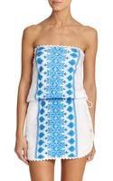 Melissa Odabash Embellished Bandeau Beach Dress - Lyst