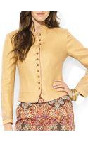 Ralph Lauren Herringbone Linen Jacket - Lyst