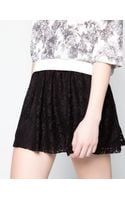 Pull&Bear Lace Skirt - Lyst