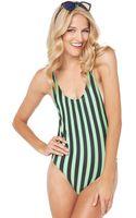 Motel Rocks Goddess Swimsuit in Black Lime - Lyst