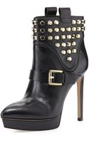 Michael by Michael Kors Bryn Studded Platform Bootie - Lyst