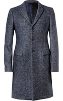 Jil Sander Herringbone Wool Alpaca and Mohairblend Overcoat - Lyst