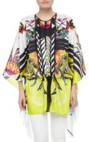 Just Cavalli Printed Silk Caftan - Lyst