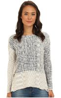 Roxy True Drop Shoulder Ls Cropped Sweater - Lyst