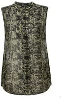 Maison Scotch Sheer Printed Sleeveless Top - Lyst