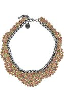 Venessa Arizaga Wild Horses Silvertone and Thread Necklace - Lyst
