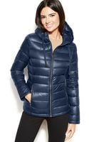 Calvin Klein Hooded Quilted Packable Down Puffer Coat - Lyst