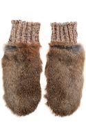 By Malene Birger Bellish Rabbit Fur Mittens - Lyst
