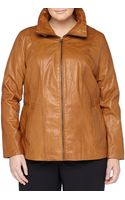 Marc New York By Andrew Marc Reese Tabcollar Leather Jacket Amber - Lyst