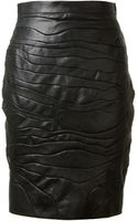 Saint Laurent Leather Skirt - Lyst