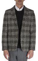 Ami Textured Glen Plaid Jacket - Lyst
