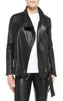 Helmut Lang Cluster Oversized Leather Moto Jacket - Lyst