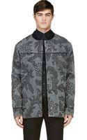 3.1 Phillip Lim Grey Denim Floral Quilted Jacket - Lyst