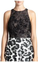 Sachin & Babi Noir Embroidered Lace Top - Lyst
