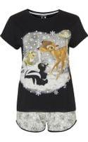 Topshop Bambi Pyjama Tee and Shorts Set - Lyst