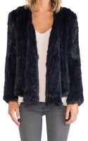 Nicholas Knitted Rabbit Fur Jacket - Lyst