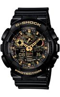 G-shock Mens Analogdigital Black Resin Strap Watch 55x51mm Ga100cf1a9 - Lyst