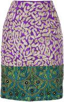 Oscar de la Renta Embellished Jacquard Skirt - Lyst