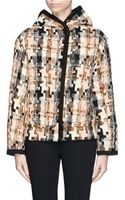 See By Chloé Geometric Houndstooth Wool Blend Coat - Lyst