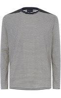 Lanvin Horizontal Stripe Long Sleeve Tshirt - Lyst