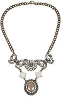 Betsey Johnson Mixed Bows and Crystal Frontal Necklace - Lyst