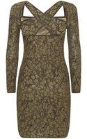 M Missoni Leopard Lurex Fitted Dress - Lyst