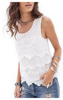 Forever 21 Tiered Lace Top - Lyst