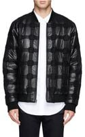 Alexander Wang Knit Plaid Padded Nylon Bomber Jacket - Lyst