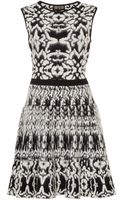 Giambattista Valli Printed Mohair-blend Flared Knit Dress - Lyst