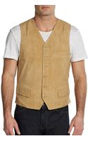 Hickey Freeman Nubuck Buttonfront Vest - Lyst