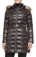 Dawn Levy Alicia Fur Hoodie Long Puffer Coat - Lyst
