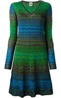 M Missoni Crochet Knit Dress - Lyst