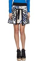 Proenza Schouler Monstera Leafprint Double Wrap Skirt - Lyst