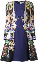 Mary Katrantzou Chrono Jeweled Sleeves Dress - Lyst