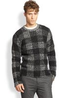 Rag & Bone Merino Wool Check Sweater - Lyst