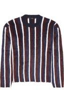 Joseph Striped Brushed Woolblend Sweater - Lyst