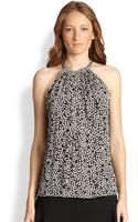 Diane Von Furstenberg Printed Silk Halter Top - Lyst