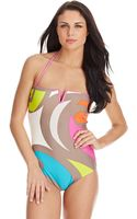 Trina Turk Pop Wave One Piece Swimsuit - Lyst