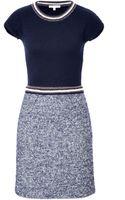 Paule Ka Woolmohairsilk Knit Dress - Lyst